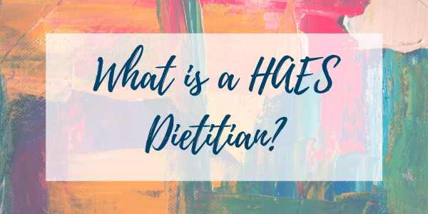 Haes dietitian title graphic
