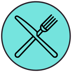 Graphic of knife and fork