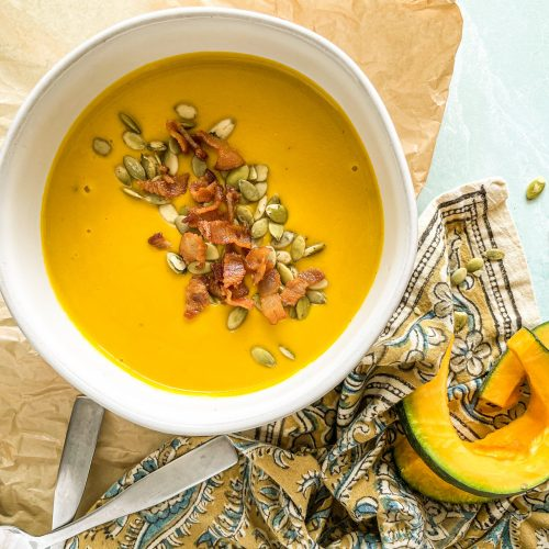 Photo of kabocha squash soup